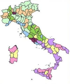 evasione fiscale, mappa dell'Italia