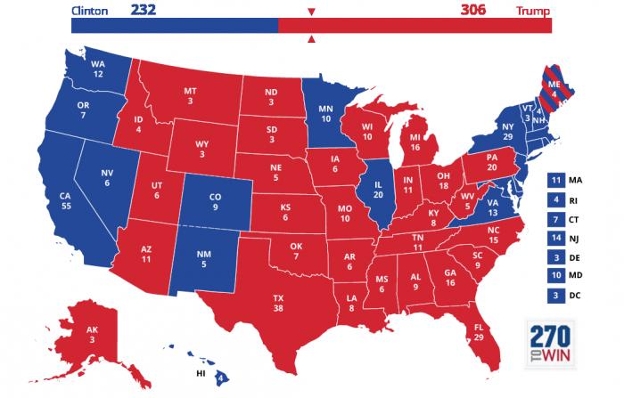risultati elezioni usa 2016 presidenziali la mappa elettorale definitiva stato per stato