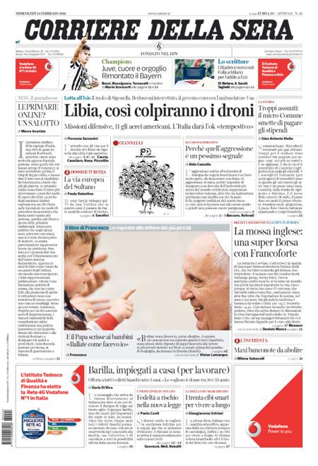 Corriere della Sera 24 febbraio 2016