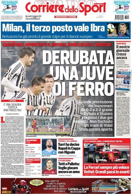Corriere dello Sport 24 febbraio 2016