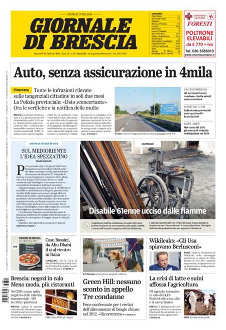 Giornale di Brescia 24 febbraio 2016