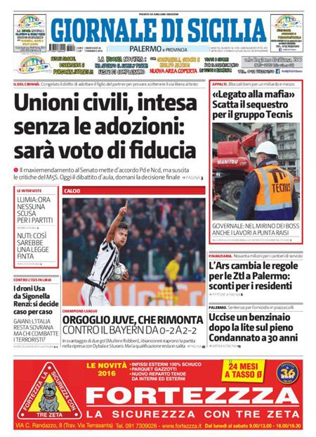 Giornale di Sicilia 24 febbraio 2016