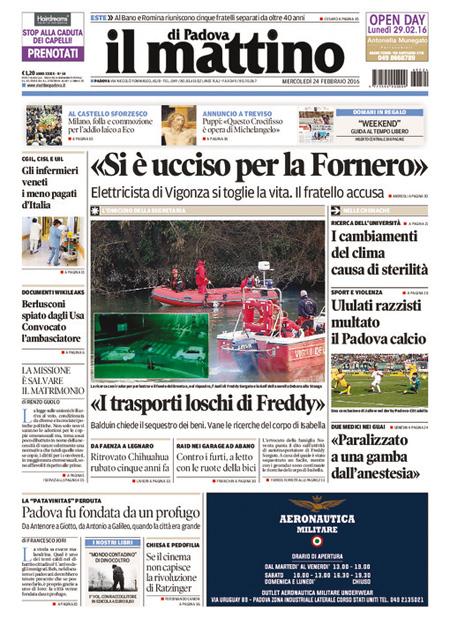 Il Mattino di Padova 24 febbraio 2016