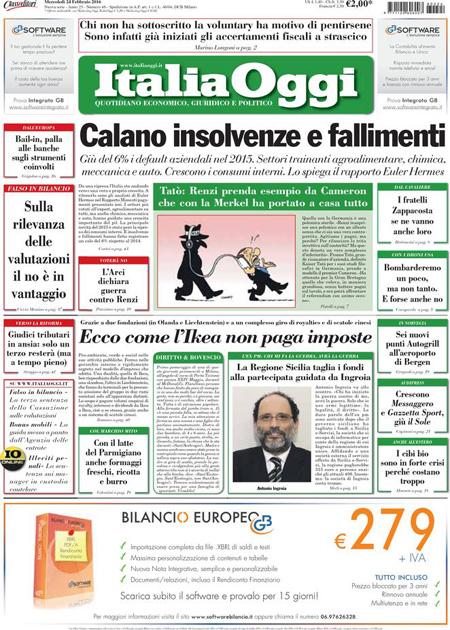 Italia Oggi 24 febbraio 2016