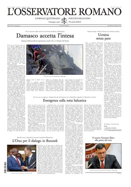 L'Osservatore Romano 24 febbraio 2016