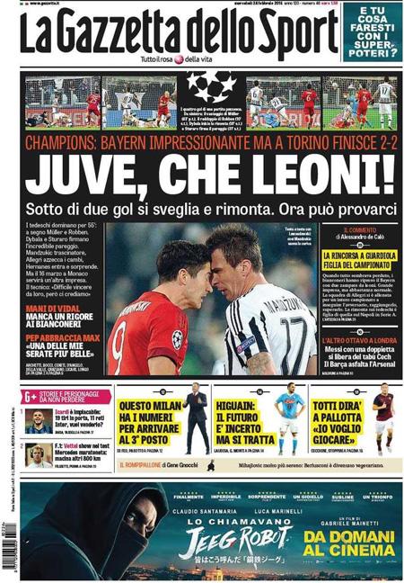 La Gazzetta dello Sport 24 febbraio 2016