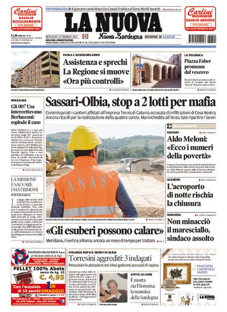 Nuova Sardegna 24 febbraio 2016