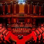 decreto intercettazioni sondaggi, unioni civili, foto del Parlamento postata da Roberto Saviano