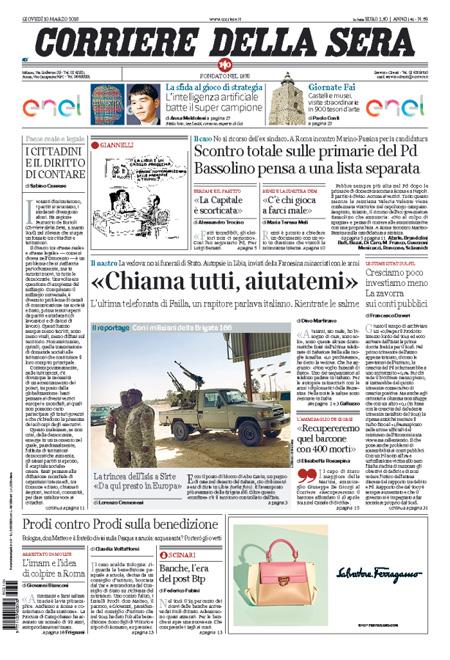 Corriere della Sera 10 marzo 2016