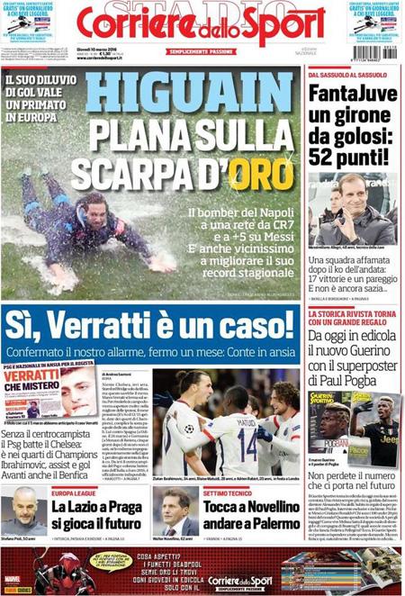 Corriere dello Sport 10 marzo 2016