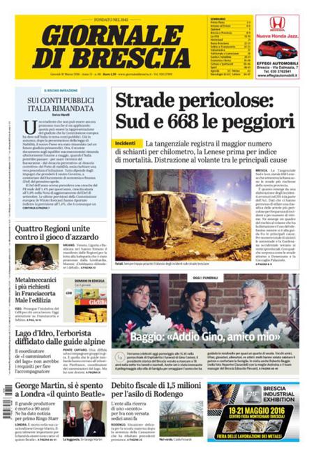 Giornale di Brescia 10 marzo 2016