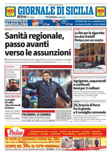 Giornale di Sicilia 10 marzo 2016