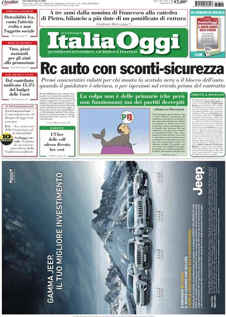 Italia Oggi 10 marzo 2016