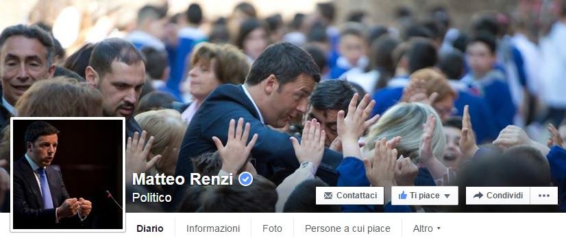 Matteo Renzi, social network