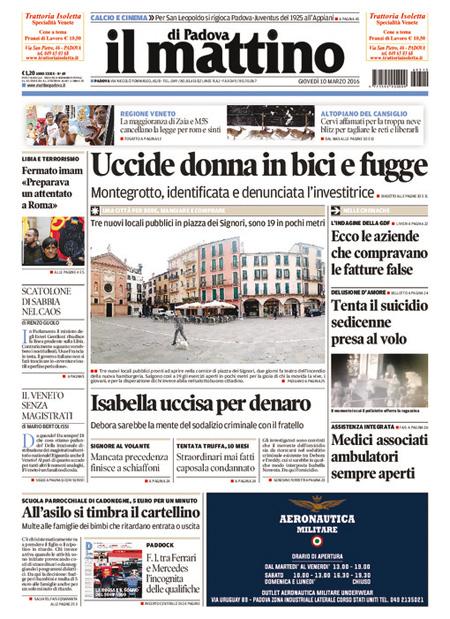 Mattino di Padova 10 marzo 2016