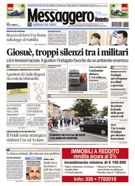 Messaggero Veneto 10 marzo 2016