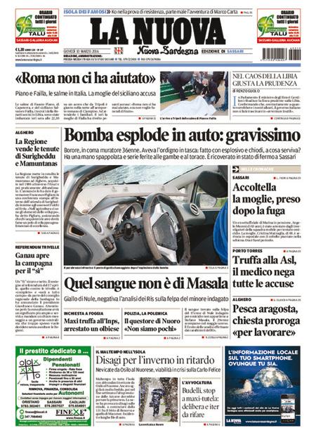 Nuova Sardegna 10 marzo 2016