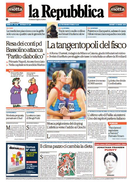 Repubblica 10 marzo 2016