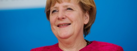 Angela Merkel, volto sorridente