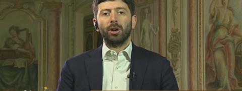 Matteo Renzi, Partito Democratico, Roberto Speranza durante la registrazione della puntata tv di In mezz'ora andata in onda su Raitre e condotta da Lucia Annunziata