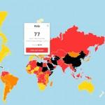 mappa 2016 libertà di stampa Reporters Sans Frontieres