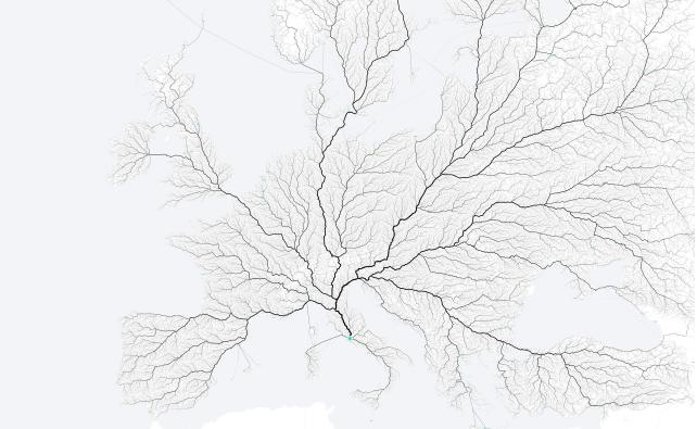 tutte le strade portano a roma, circolazione roma, strade roma