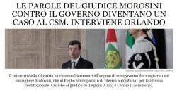 Renzi va fermato: le parole del consigliere Csm Morosini diventano un caso