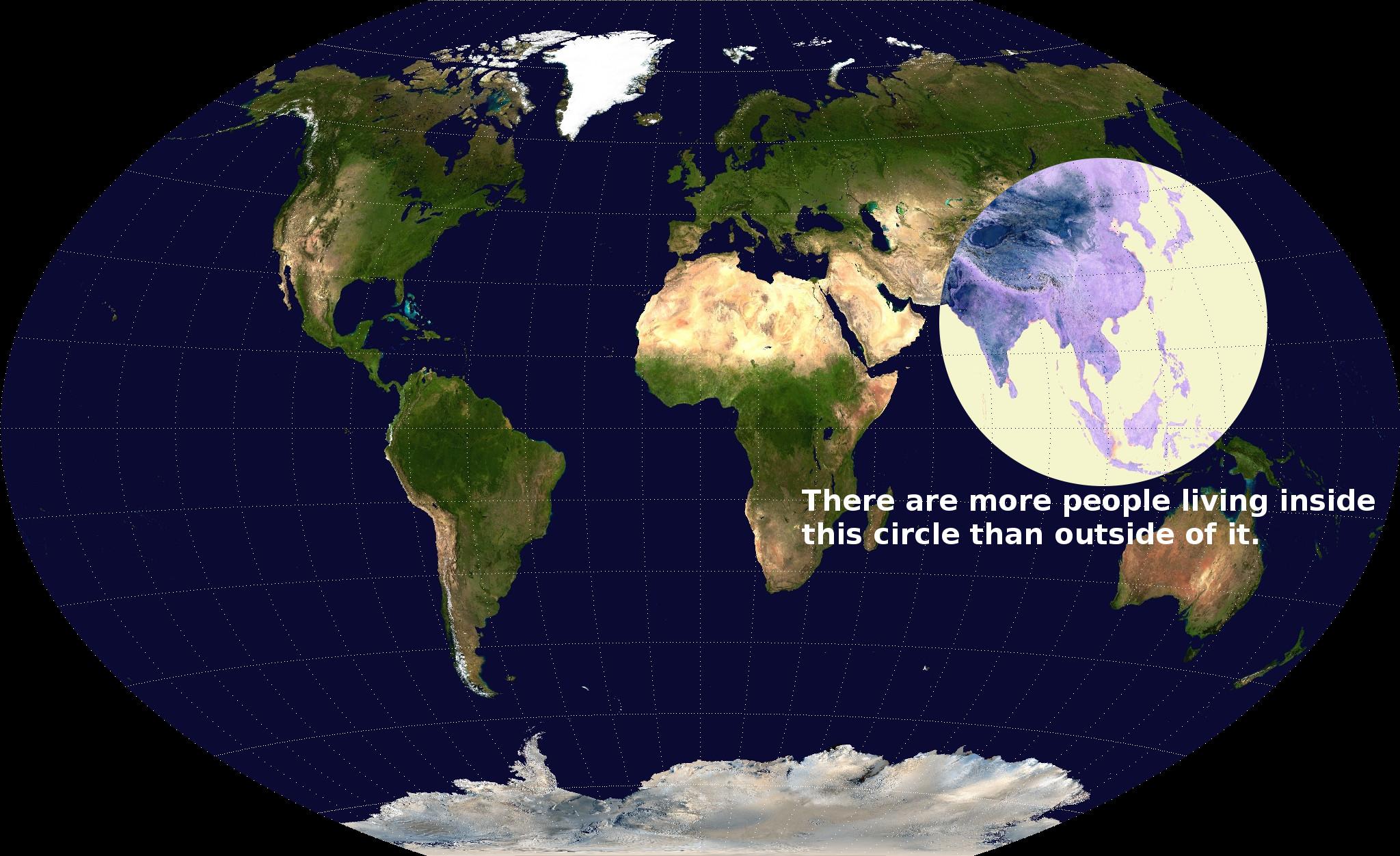 popolazione mondiale mappa