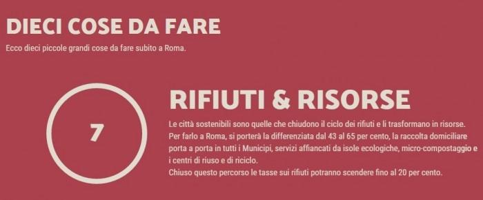 comunali roma programma giachetti