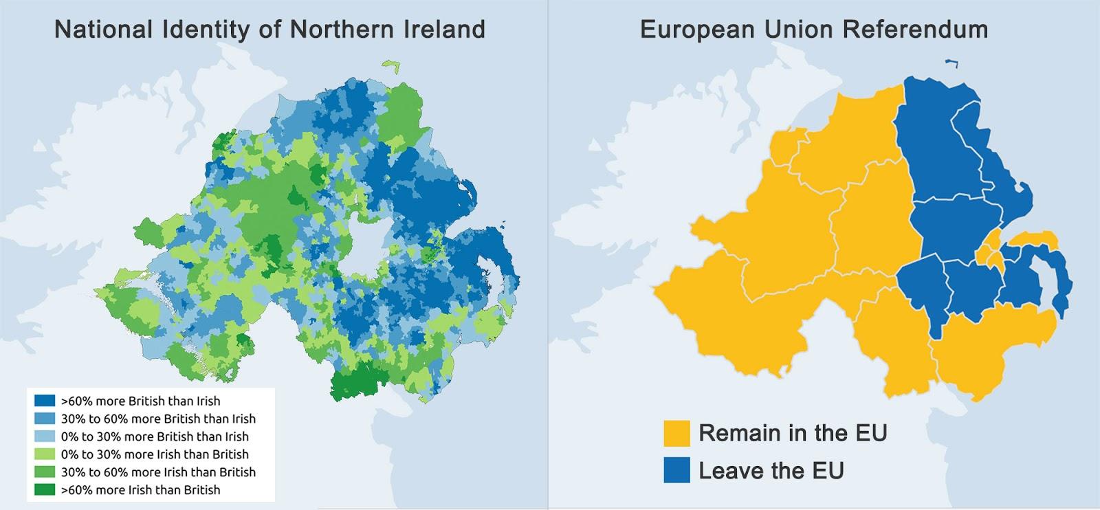Irlanda Del Nord Cartina Geografica.Ecco Cosa Ne Pensano In Irlanda Del Nord Di Brexit Ed Indipendenza Mappe E Sondaggi
