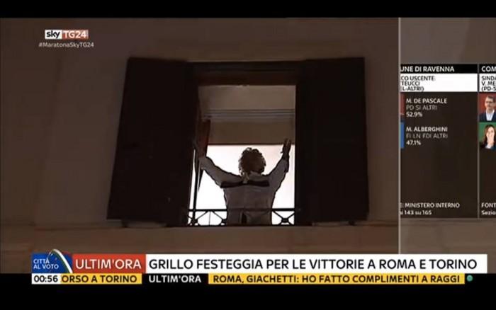 diretta risultati ballottaggi roma, grillo