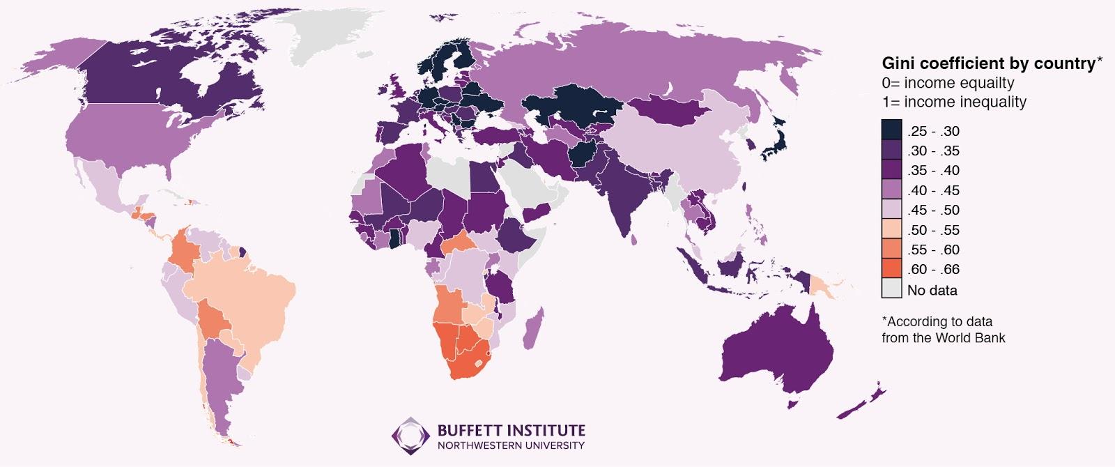disuguaglianza, mappa con diversi colori