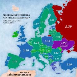 Quanta � la spesa per la difesa in Europa? Le mappe
