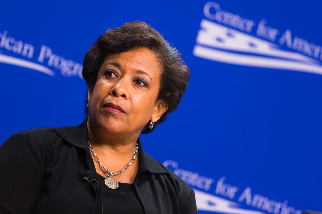 Il segretario alla Giustizia Loretta Lynch