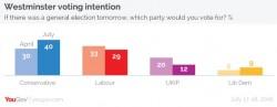 Sondaggi elettorali Regno Unito: UKIP non sfonda, nonostante la Brexit