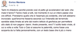 Terremoto: Chicco Mentana lo smonta bufale