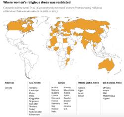 Le restrizioni sull�abbigliamento femminile nel mondo