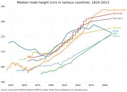 Statura media: italiani sempre pi� alti, superati i francesi e gli americani