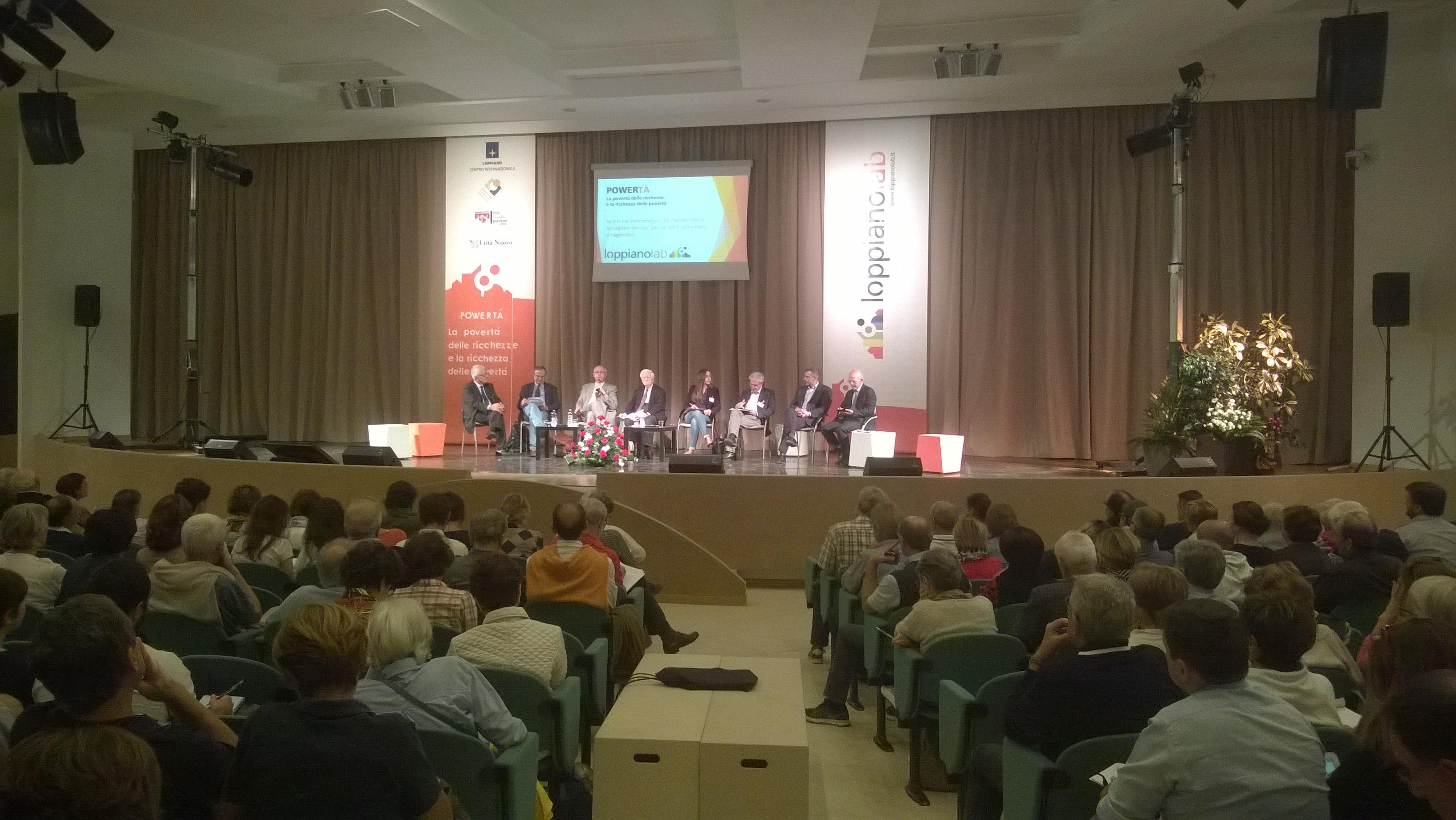 LoppianoLab, incontro sul referendum costituzionale 2016. Nella foto i relatori Minnetti, Zanzucchi, Curreri, La Valle, Grande, Patriarca, Endrizzi, Palmieri