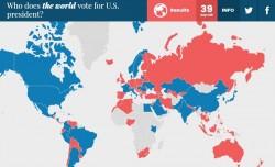 Elezioni USA 2016: il sondaggio mondiale (semiserio)