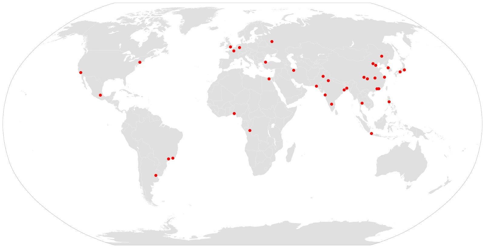 Cartina Mondo Ingrandita.Megalopoli Ecco La Mappa Delle Aree Urbane Piu Popolose Al Mondo
