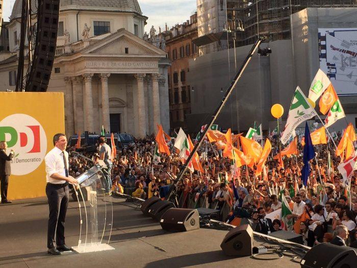 Renzi, sivainpiazza, referendum