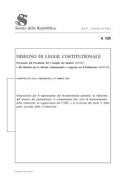 copertina riforma costituzionale referendum
