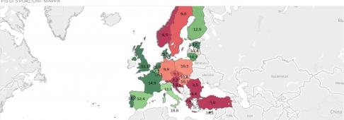Ma quanta frutta e verdura mangiano gli europei? Italiani sotto-media – infografiche