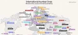 Mappe: la cosa in cui ciascun paese del mondo eccelle