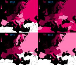 I redditi in Europa dal 1840 ad oggi, le mappe