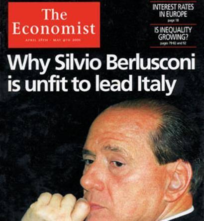 copertina Economist Berlusconi 2001