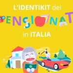 pensioni in Italia, infografica con disegni e cartoon colorati