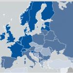 gender gap, mappa colorata dell'Europa