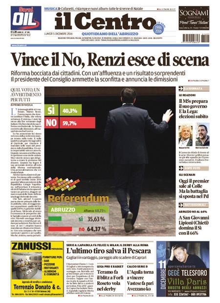 Rassegna stampa 5 dicembre 2016 termometro politico for Pensioni amsterdam centro economici